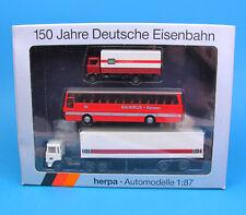 Herpa H0 7542 Set 150 Jahre DB Container Bus LKW Deutsche Bundesbahn OVP HO 1:87
