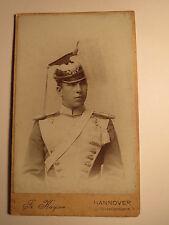 Hannover - Soldat in Uniform mit Epauletten Helm Tschako Gurt - Ulan ? / CDV