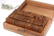 70 Stempel ABC Alphabet Zahlen Klein- & Großbuchstaben HolzBox