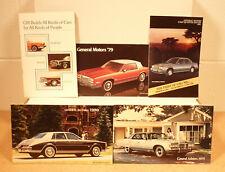 Vintage General Motors GM Catalog/Brochures 1974,1975,1979,1980,1982 Very Nice!!