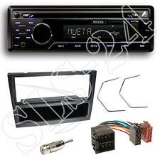Mueta a4 CD USB SD radio FM set + Renault Trafic II diafragma negro + adaptador ISO