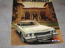 1973 Chevrolet Full Size Impala Caprice Full Color Sales Brochure