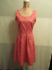 NEW WITH TAGS MOTTLED PINK PRINT PATTERN COTTON DRESS BY DAUOD SIZE 12 OOAK