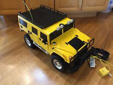 RARE 1:6 Scale FAST LANE YELLOW 2002 HUMMER TRUCK RC RADIO CONTROL & CHARGER
