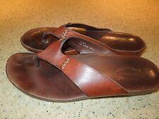 "Kork Ease ""Rachel"" Brown Leather SZ 9 Flip Flops"