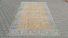 Oushak 7x10, Turkish Rug,vintage,anatolian,Orange,kilim,Bohemian,handmade,wool