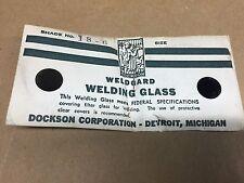 Vintage Dockson Weldgard Welders Goggle Round Lens Welding Shade 6 18 6 Nos