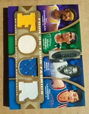 WILT CHAMBERLAIN lakers Jersey  2009-10 UD sp game used four on four fabrics