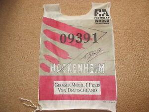 MICHAEL SCHUMACHER SIGNED RACE TABARD FROM HOCKENHEIM
