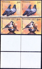 India 2010 MNH 2v in Pair, Birds, Pigeon, Sparrow - G46