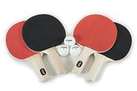 4 Player Stiga Classic Racket Set Table Tennis Ping Pong Paddles White Balls NEW