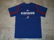 Adidas KANSAS JAYHAWKS Football Shirt/Jersey Youth Medium (10-12) NWOT