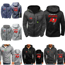 Tampa Bay Buccaneers Sport Hooded Hoodie Zipper Sweatshirt Jacket Football Coat