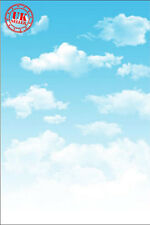 KIDS BLUE SKY CLOUDS BABY BACKDROP BACKGROUND VINYL PHOTO PROP 5X7FT 150x220CM