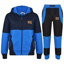Infantil Chándal Real de Muchachos & Azul Marino Diseñado Cremallera Pantalones