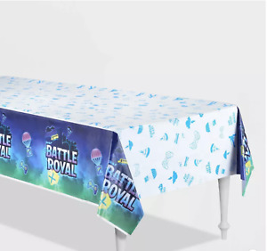 Battle Royal Paper Table-Cover Video Gamers Birthday Party Supplies Decorations