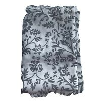 IKEA Blekviva Fabric Shower Curtain 70x70 100% Polyester Floral White Gray