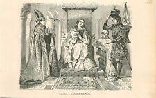 Madone au chanoine Virgin and Child Bruges Jan Van Eyck GRAVURE OLD PRINT 1880