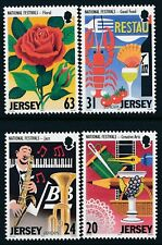 1998 JERSEY EUROPA/FESTIVALS SET OF 4 FINE MINT MNH