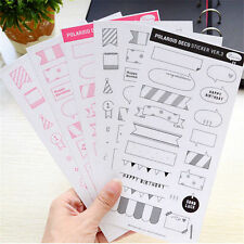 6 Sheets Paper Sticker DIY Cute Photo Scrapbook Calendar Diary Planner Stickers