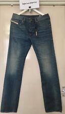 Men's Diesel Buster Pantaloni Blue Regular Slim Tapered Jeans Size W29 L30
