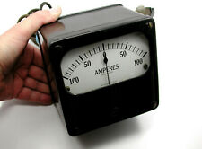 New listing Antique Westinghouse 100 Amp Amperes Dc Lunchbox Meter – Steampunk!