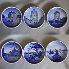 6 Royal Copenhagen Denmark Porcelain Mini Plates Butter Pat Dishes