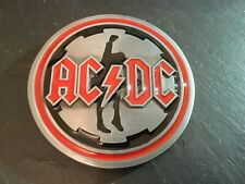 ACDC Rock Music Round Logo New BELT BUCKLE New Metal Pewter Angus Young