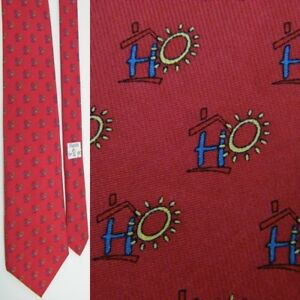 NEW W/TAG VINEYARD VINES RED BLUE YELLOW HO HAVEN FOR HOPE SILK NECKTIE NECK TIE