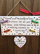 Personalised Nursery Childminder Baby Room Thank You Gift Present Plaque