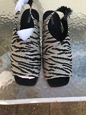 Ladies Next Grey and Black Peeptoe Sandals Size UK 6.5 EUR 40