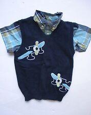 Gymboree East Coast Harbor Plaid Shirt Airplane Sweater Vest Set Boys 4T NEW NWT