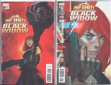 Infinity Countdown Black Widow #1 1St Print & Seinkiewicz Cvr Set
