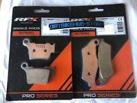 RFX Front & Rear Brake Pads Set Yamaha YZ 125 250 2000 2001 2002