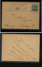 Ceylon  revalued postal  card to  Germany        KL0430