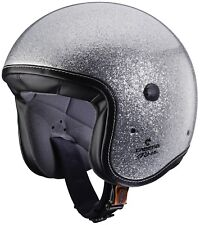 Caberg Freeride metallo Fiocco Jethelm Moto Tricomposite - Argento Metallizzato M