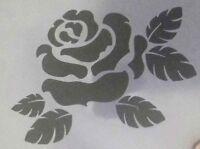 "2 x Rose flower Wall art decal stencils  pick 3"" - 8"" gift 350 mcg mylar England"