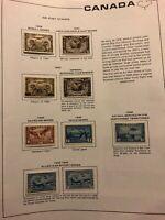 Canada Stamp Lot Registered, Air Post 1928-1943 Unused