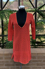 Antonio Melani red Lace swimsuit cover-up size S