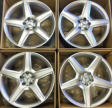 19 NEW AMG MERCEDES BENZ S CLS S550 CLK E S OEM WHEELS RIMS SL SLS SET 4 2012-16
