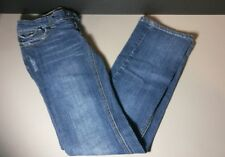 Guess Boot Cut Distressed Doheny Jeans Womens 0 Flap Pockets Dark Wash Pants