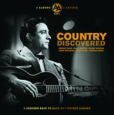 Country Music Collection Vinyle New TRIPLE LP album 6 Artists 50 s 60 s Johnny Cash