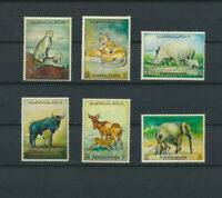 Wild African Animals Oman Mint Never Hinged Set of 6 Different