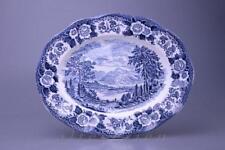 Fleischplatte klein 30,5 x 24,2 cm Enoch Wedgwood Lochs of Scotland Blue