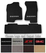 GMC Sierra 3pc Classic Loop Carpet Floor Mats-Choice of Carpet Color & Logo