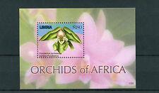 Liberia 2011 MNH Orchids of Africa 1v S/S I Flowers Flora Zambesi Polystachya