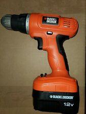 Black & Decker 12V Cordless 3/8 in. Drill GCO1200 w/Battery Works
