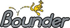 Bounder RV LOGO Graphic Slant Lettering decal Fits on the front of some models