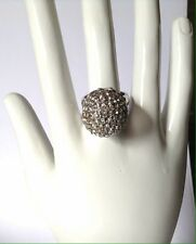 Betsy Johnson Ring - Pave Crystal Silver - Sz. 7 NEW