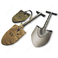 WW2 US Army Usmc m1910 t-Handle Shovel Length 56cm with khaki or green cover